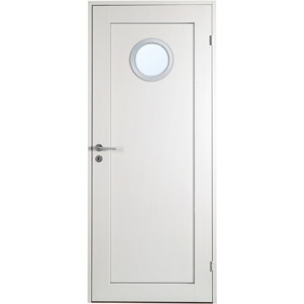 Öland - 1-spegel - Runt glas Aluminiumring - Massiv - Innerdörr